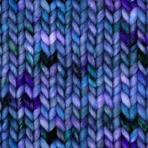 Chunky speckled stockinette stitch - deep indigo