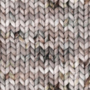 Chunky speckled stockinette stitch - pale neutral