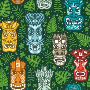 Large Hawaiian Tiki Masks