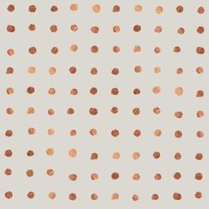 Copper Grid Dots 0.3 inch gray