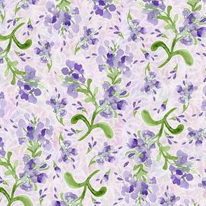 Lavender Plumbagos on Maidenhairs