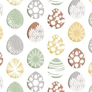 Easter Egg Decorating, Earth Tones