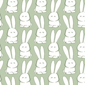 Easter Marshmallow Bunnies, Green