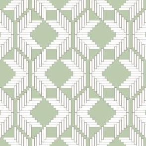 Snowflake Herringbone, Green