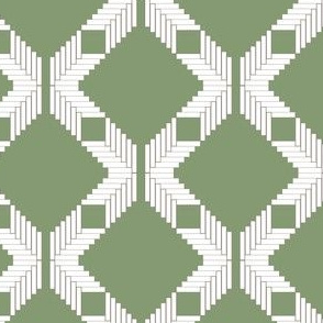 Herringbone Diamond Lattice, Green