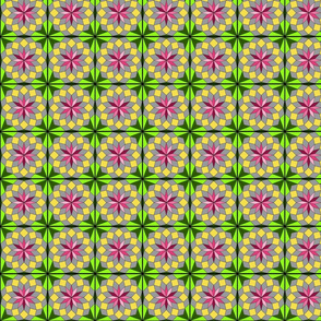 Voila Viola-PinkGoldGreenGray