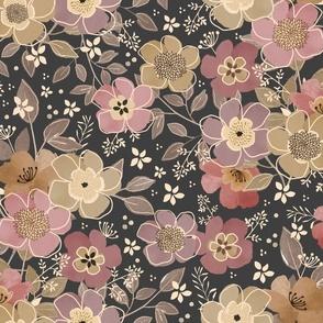 Abigail Floral - Neutral