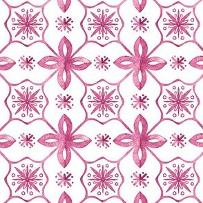 beautiful tile pattern in pink