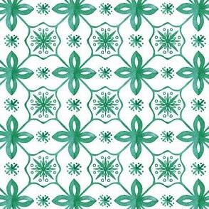 beautiful tile pattern in green