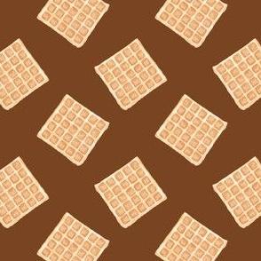 plain waffles - brown