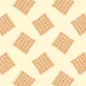 plain waffles - cream