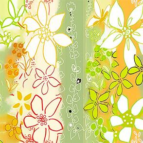 DREAMY FLOWERS- GREEN