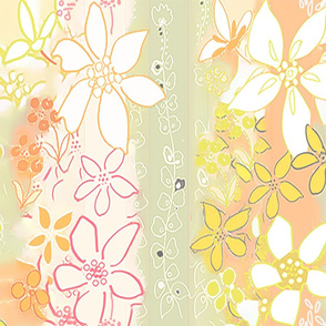DREAMY FLOWERS- GOLD