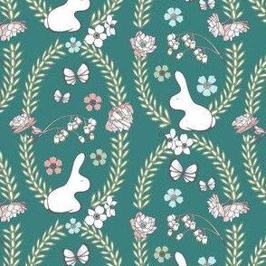 Easter Flora and Fauna, Teal