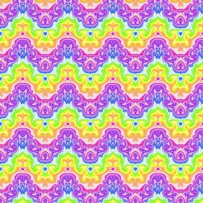 Rainbow Swirl Chevron- small