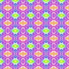Rainbow Swirl Tile- small