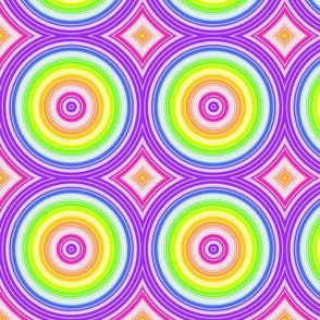 Rainbow Circles- large