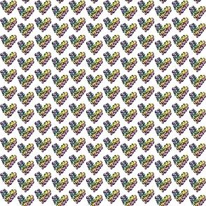 Leopard hearts - rainbow tiny
