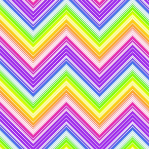 Rainbow Chevron- large