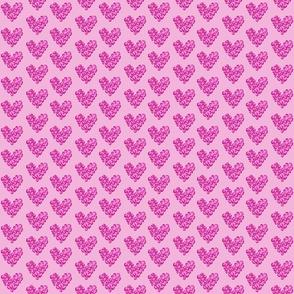 Leopard hearts - pink tiny