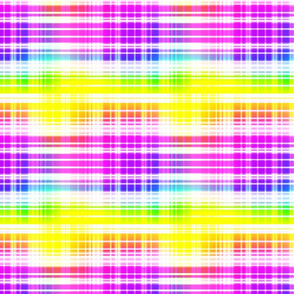 Rainbow Plaid 2- large