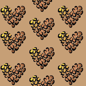 Leopard hearts - medium
