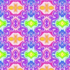 Rainbow Swirl Tile -large