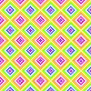 Rainbow Diagonal Squares- sm
