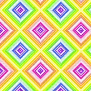 Rainbow Diagonal Squares - lg