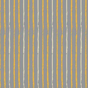 Yellow Orange & Cream Vertical Stripes