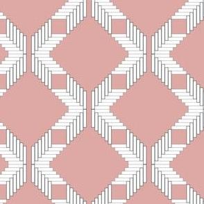 Herringbone Diamond Lattice, Pink