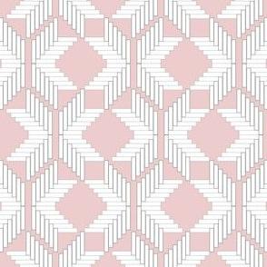 Snowflake Herringbone, Pink