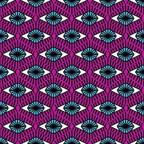 Geometric Evil Eyes - medium magenta