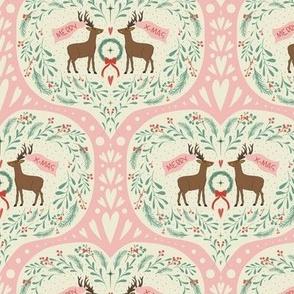 Merry Christmas, Deer! Pink by DEINKI