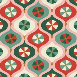 Vintage Ornaments Pink-Green by DEINKI
