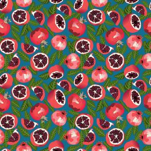 Pommegranate - blue - small