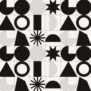Minimal geometric monochrome pattern