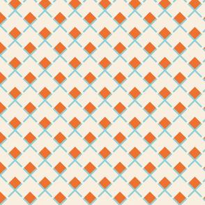 Retro Summer Geometrics  squares on beige background