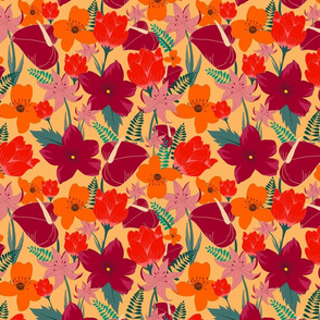 Floral tropical_vibrant