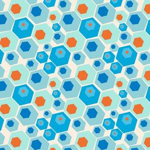 Retro Summer Geometrics Hexagon
