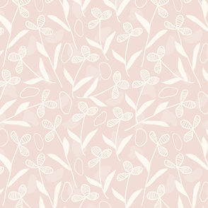 Warm Color Neutral Abstract Floral