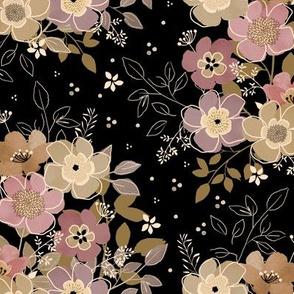 Abigail florals - Dark