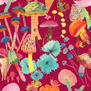 Magic and joy! Mushrooms_Wine