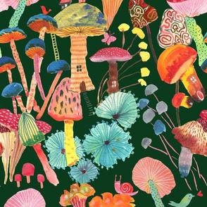 Magic and joy! Mushrooms_emerald green