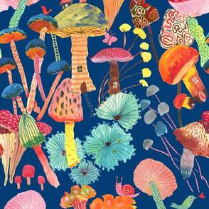 Magic and joy! Mushrooms_Blue