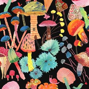 Magic and joy! Mushrooms_Black