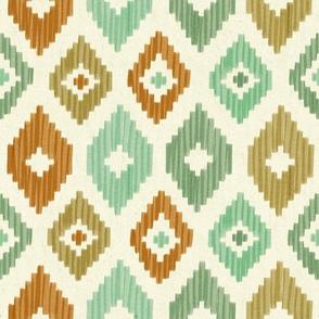 Ikat rhombus pattern