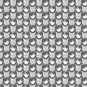 Small Black Parti Pomeranian horseshoe portraits