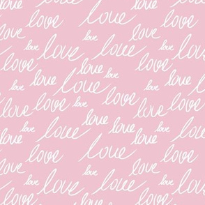Love for lovers handwritten text for Valentine's day romantic typography script soft pink white