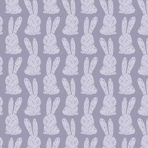 Easter Bunny Marshmallow Stamp, Purple